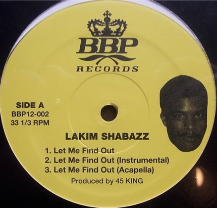 Lakim Shabazz Let Me Find Out / Turn It Out
