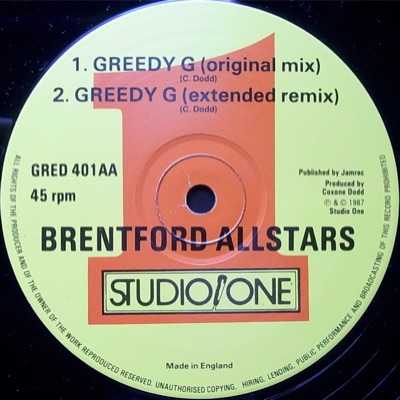 T Ski Valley Brentford All Stars The Jam Is On Greedy G