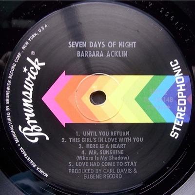 Barbara Acklin - Seven Days Of Night