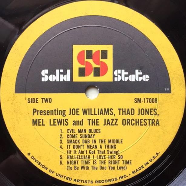 Joe Williams And Thad Jones Mel LewisJazz Orchestra Presenting Joe Williams And Thad Jones Mel Lewis