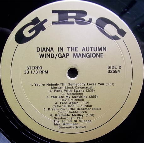 The Gap Mangione Trio Diana In The Autumn Wind